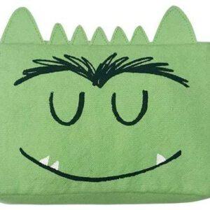 estuche monstruo de colores verde