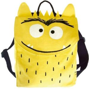 mochila monstruo de colores amarillo