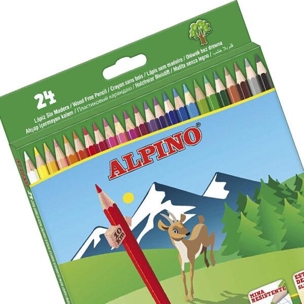 Lapices alpino 24 unidades, envio material papeleria valencia