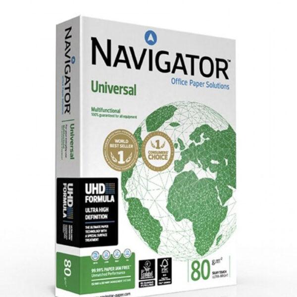 Paquete 500 folios Navigator, envio material papeleria valencia