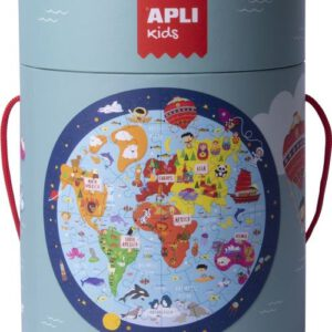 puzzle mundo circular apli