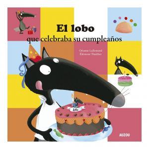 el lobo que celebra su cumpleaños